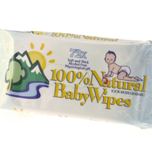 72pc Baby Wet Wipes 100% Natural